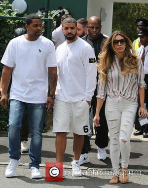 Drake - Drake outside Wimbledon today - London, United Kingdom - Monday 6th July 2015