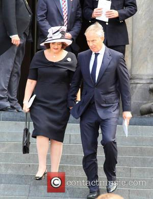 Cherie Blair and Tony Blair - 10th Anniversary of the London bombing memorial service held at St Paul's Cathedral in...