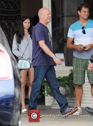 Bruce Willis - Actor Bruce Willis spotted filming