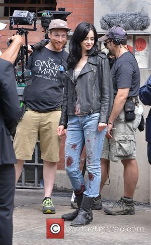 Krysten Ritter - Krysten Ritter on the set of 'Jessica Jones' - Manhattan, New York, United States - Tuesday 7th...
