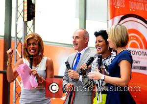 Hoda Kotb, Matt Lauer, Tamron Hall and Dillon Dryer
