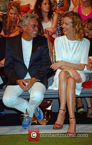 Helmut Schlotterer and Eva Herzigova