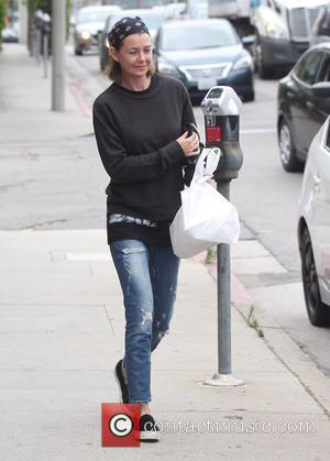 Ellen Pompeo - Ellen Pompeo grabs some lunch in West Hollywood with her husband Chris Ivery - Los Angeles, California,...