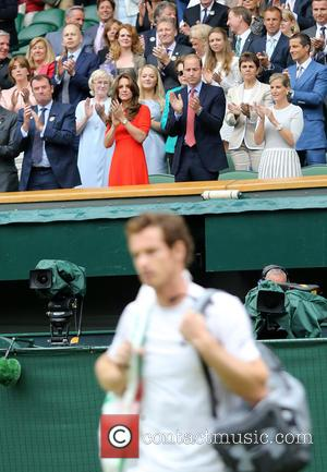 Prince William, Duke Of Cambridge, Catherine, Duchess Of Cambridge, Kate Middleton and Andy Murray