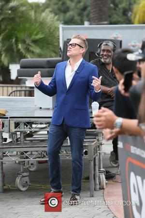 Mark McGrath - Mark McGrath seen at Universal studios where he was interviewed  by Mario Lopez for television show...