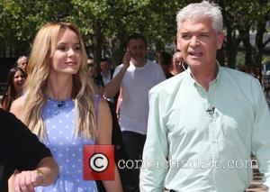 Amanda Holden and Phillip Schofield - Amanda Holden and Phillip Schofield filming on the Southbank - London, United Kingdom -...