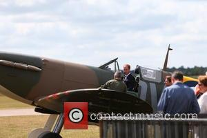 Prince William - Prince William receives a Supermarine Spitfire MK 1 from American philanthropist Thomas Kaplan at the Imperial War...