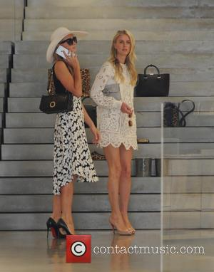 Paris Hilton and Nicky Hilton - Paris Hilton and Nicky Hilton out and about shopping at The Victoria Beckham shop...