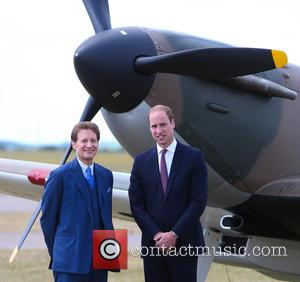 Prince William, Duke of Cambridge and Thomas Kepler - Prince William, Duke of Cambridge accepts a restored Supekrmarine Spitfire Mk1...