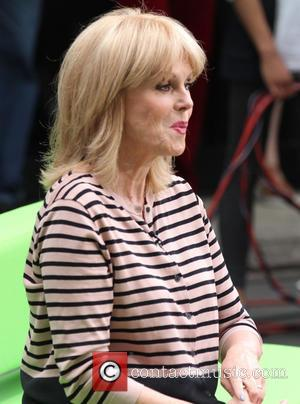 Joanna Lumley - Chris Evans films his last 'The One Show' episode at the BBC with Alex Jones and celebrity...