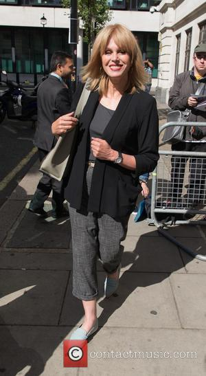 Joanna Lumley - Joanna Lumley leaving the BBC Radio 2 studios after appearing as a guest on the Chris Evans...
