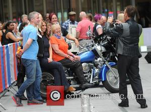Alex Jones - Chris Evans filming his last 'One Show' episode at the BBC with Alex Jones - London, United...