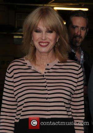Joanna Lumley - Joanna Lumley at the filming of Chris Evans' last 'One Show' episode at the BBC - London,...