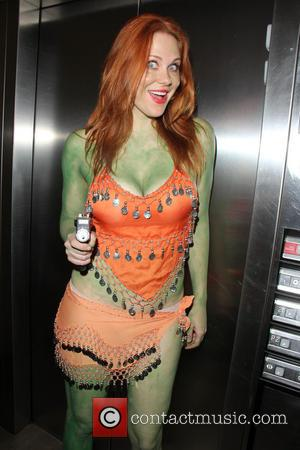 Maitland Ward - Maitland Ward returns to her hotel to wash off the green body paint from her 'Orion Slave...