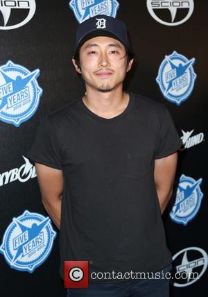 Steven Yeun - Premiere party for 'AIR' held at Western Metal Rooftop - Arrivals at Western Metal Rooftop - Los...