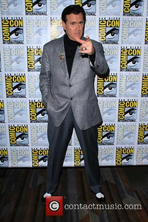 Bruce Campbell - San Diego Comic-Con International 2015 - 'Ash vs. Evil Dead' - Press Room - San Diego, California,...