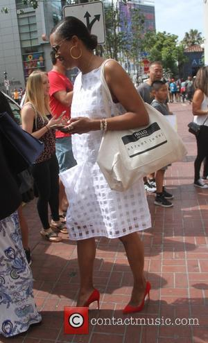 Aisha Tyler - San Diego Comic-Con International 2015 - Celebrity Sightings - Hollywood, California, United States - Saturday 11th July...