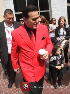 Bruce Campbell - San Diego Comic-Con International 2015 - Celebrity Sightings - Hollywood, California, United States - Saturday 11th July...