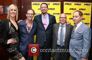 Georgie Bernasek, John Rando, Penn Jillette, Mike Jones and Teller
