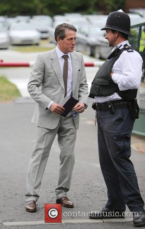 Hugh Grant - Wimbledon Tennis Championships 2015 - Celebrity Sightings - London, United Kingdom - Sunday 12th July 2015