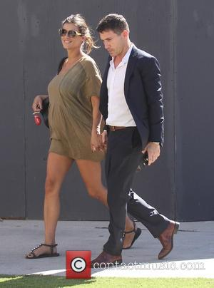 Elisabetta Canalis and Brian Perri - Heavily pregnant Elisabetta Canalis out and about holding hands with husband Brian Perri -...