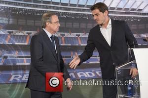 Iker Casillas and Florentino Perez
