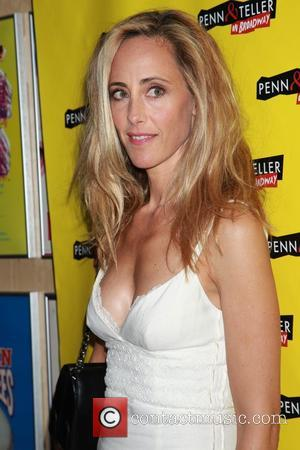 Kim Raver - 'Penn & Teller on Broadway' opening night - Arrivals at Marquis Theatre, - New York, United States...