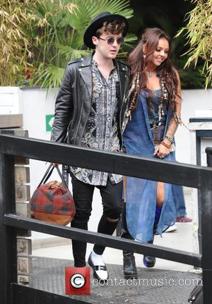 Jesy Nelson and Jake Roche - Coleen Nolan and Jesy Nelson with Jake Roche seen leaving ITV Studios in London...
