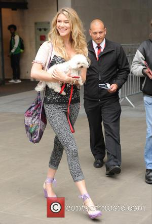 Joss Stone - Joss Stone seen out and about at BBC Studios in London with her Dog. - London, United...
