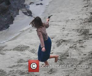 Maeve Dermody - Aidan Turner and Maeve Dermody film a scene for the mini-series And Then There Were None in...