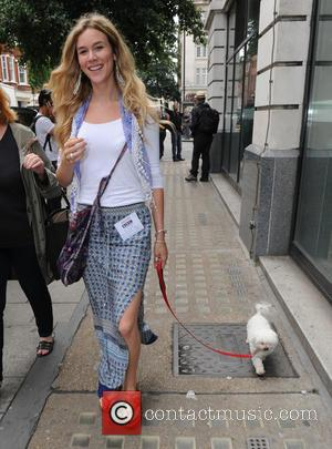 Joss Stone - Joss Stone seen out in London with her Dog Jess leaving Radio Two Studios. - London, United...