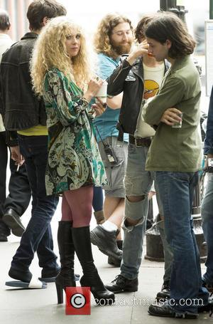 Juno Temple - Juno Temple on the set of HBO Untitled Rock 'n Roll at Greenwich Village - New York,...