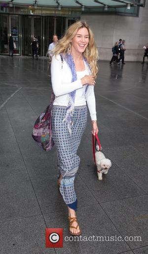 Joss Stone - Joss Stone arriving at the BBC studios with her dog Dusty at BBC Portland Place - London,...