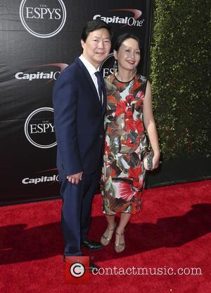 Ken Jeong and Tran Jeong - The 2015 ESPY Awards held at The Microsoft Theatre - Red Carpet Arrivals at...