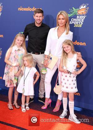 Steven Gerrard, Alex Gerrard, Lilly-Ella Gerrard, Lexie Gerrard and Lourdes Gerrard - Nickelodeon Kids' Choice Sports Awards 2015 at UCLA's...