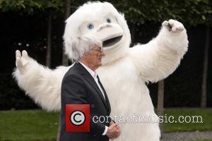 Bernie Ecclestone - Bernie Ecclestone and a Yeti launch car for Mongol Rally at Princes Gate. - London, United Kingdom...
