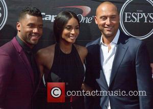 Russell Wilson, Ciara and Derek Jeter