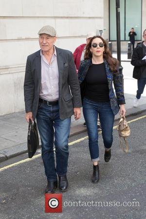 Patrick Stewart - Patrick Stewart pictured arriving the Radio 2 studios at BBC Western House - London, United Kingdom -...