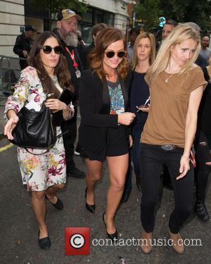Amy Poehler - Amy Poehler pictured arriving the Radio 2 studio at BBC Western House - London, United Kingdom -...