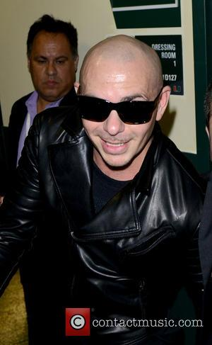 Pitbull - Univision Premios Juventud 2015 at BankUnited Center - Backstage at BankUnited Center - Coral Gables, Florida, United States...