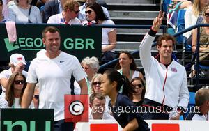 Kim Murray and Kim Sears Andy Murray - Kim Murray watches the action at the Davis Cup match against Great...