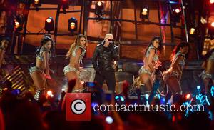 Pitbull - Univision Premios Juventud 2015 at BankUnited Center - Show at BankUnited Center - Coral Gables, Florida, United States...