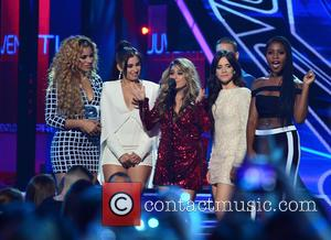 Lauren Jauregui, Dinah-Jane Hansen, Ally Brooke, Camila Cabello and Nomani Hamilton of Fifth Harmony - Univision Premios Juventud 2015 at...
