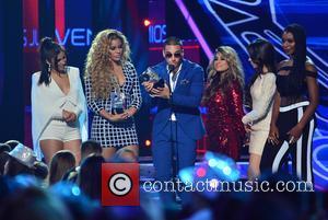 Dinah, Lauren Jauregui, Ally Brooke, Camila Cabello, Maluma (c) and Fifth Harmony