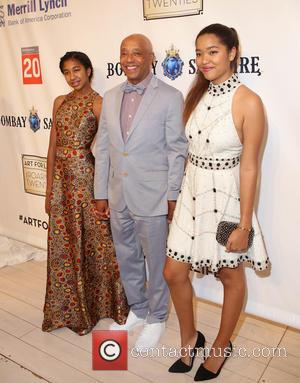 Russell Simmons and Daughters - RUSH Philanthropic Arts Foundation's Art for Life Benefit honoring Dave Chappelle, Michaela and Simon de...