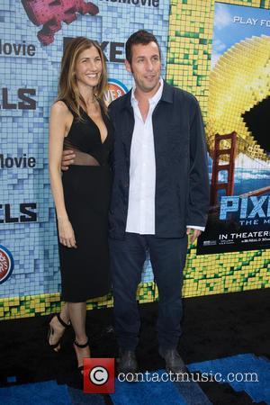 Adam Sandler and Jackie Sandler - World premiere of 'Pixels' held at Regal E-Walk - Arrivals at Regal E-Walk -...