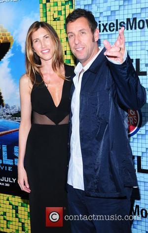 Adam Sandler and Jackie Sandler - World Premiere of 'Pixels' at Regal E-Walk - Arrivals - New York City, New...