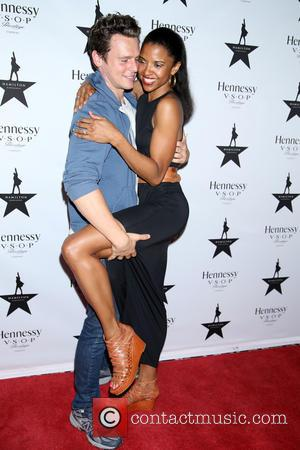 Jonathan Groff and Renée Elise Goldsberry - Hennessy V.S.O.P celebrates Hamilton's first week of previews on Broadway at URBO restaurant...