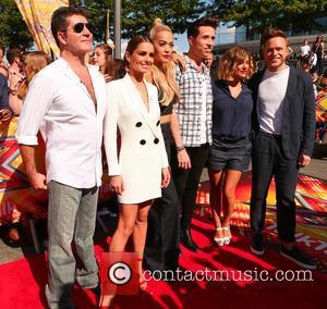 Cheryl Ann Fernandez-versini, Simon Cowell, Nick Grimshaw, Rita Ora, Olly Murs and Caroline Flack