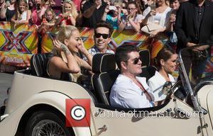 Rita Ora, Nick Grimshaw, Simon Cowell and Cheryl Fernandez-versini
